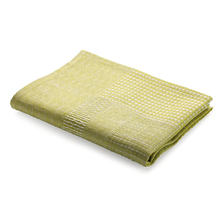 Structured Fabric Dish Towel Green
