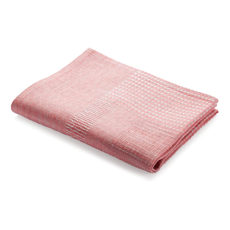 Geschirrtuch Strukturgewebe, Rosé