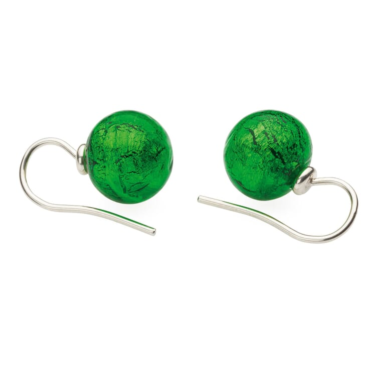 Murano Glass Earrings, Green