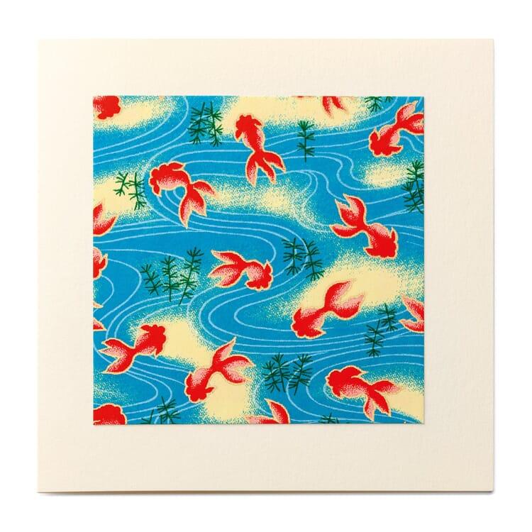 Grußkarte Chiyogami, Nr. 3