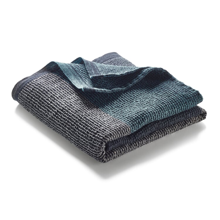 Waffle Piqué Towel Lyocell Linen Anthracite-Blue Hand Towel