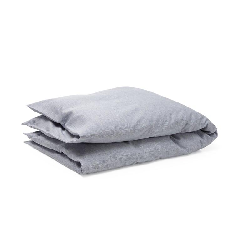 Bettbezug Leinen Blau-Weiß 155 × 220 cm