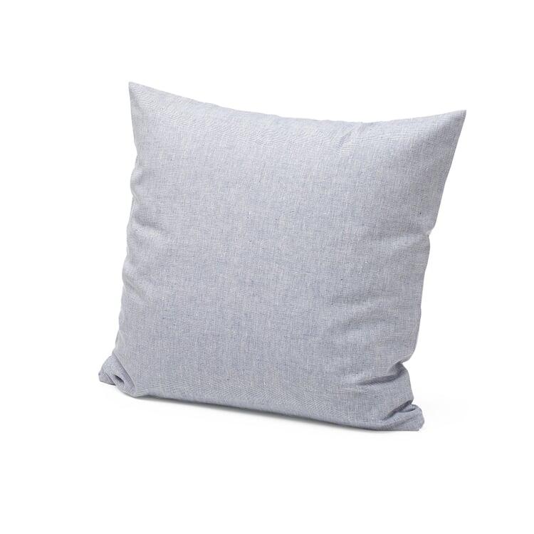 Kopfkissenbezug Leinen Blau-Weiß 80 x 78 cm