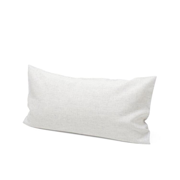 Pillow Case Made of Linen White-Blue 40 × 78 cm
