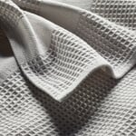 Bath Towel Waffle Fabric Made of Half Linen Light Gray