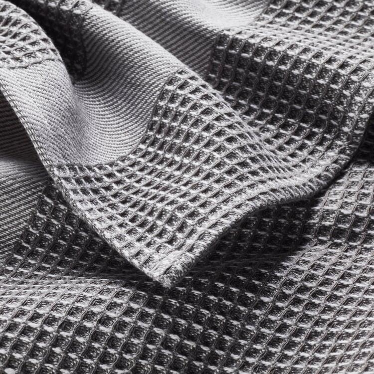 Bath Towel Waffle Fabric Made of Half Linen Grey