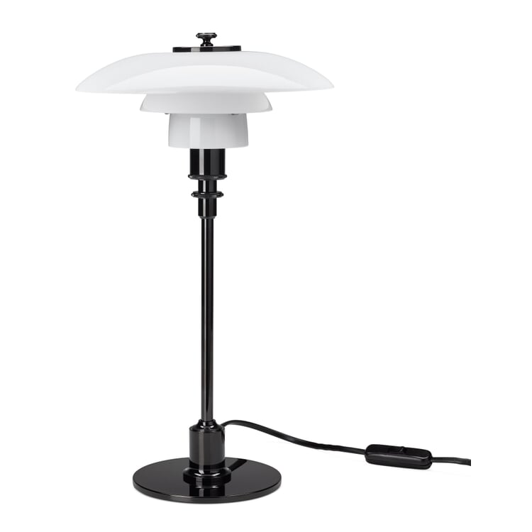 Table Lamp Opaline Glass PH 2/1 by Louis Poulsen PVD-Coated