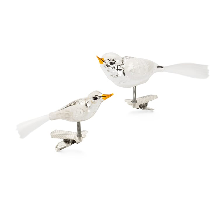Lauschaer Glasvögel traditionell (2 Stück)