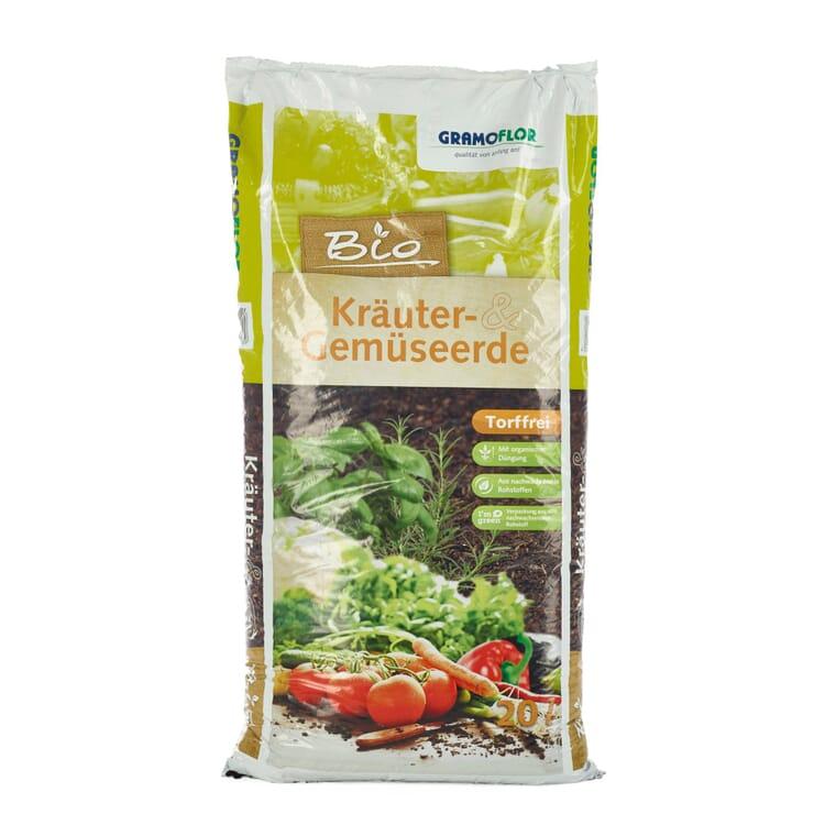 Kräuter- und Gemüseerde torffrei