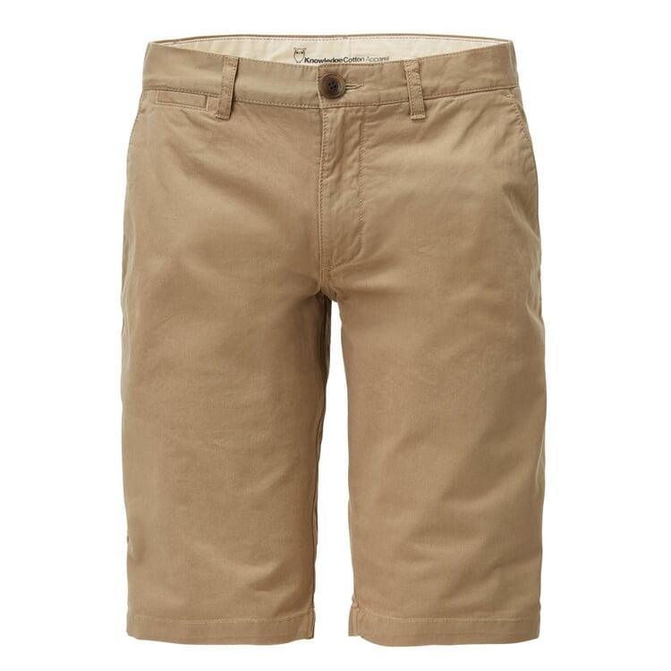 Knowledge Cotton Apparel Chino Shorts Beige