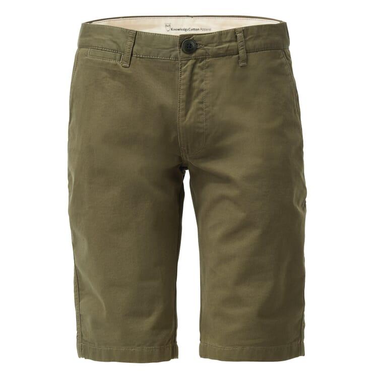 Knowledge Cotton Apparel Chino-Shorts, Khaki