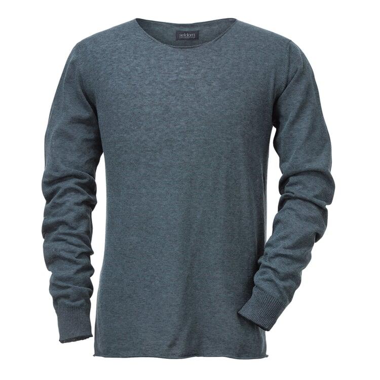 Seldom Herren-Strickshirt Blau-Grün