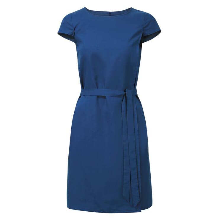 Tencel™-Kleid mit Bindegürtel, Blau