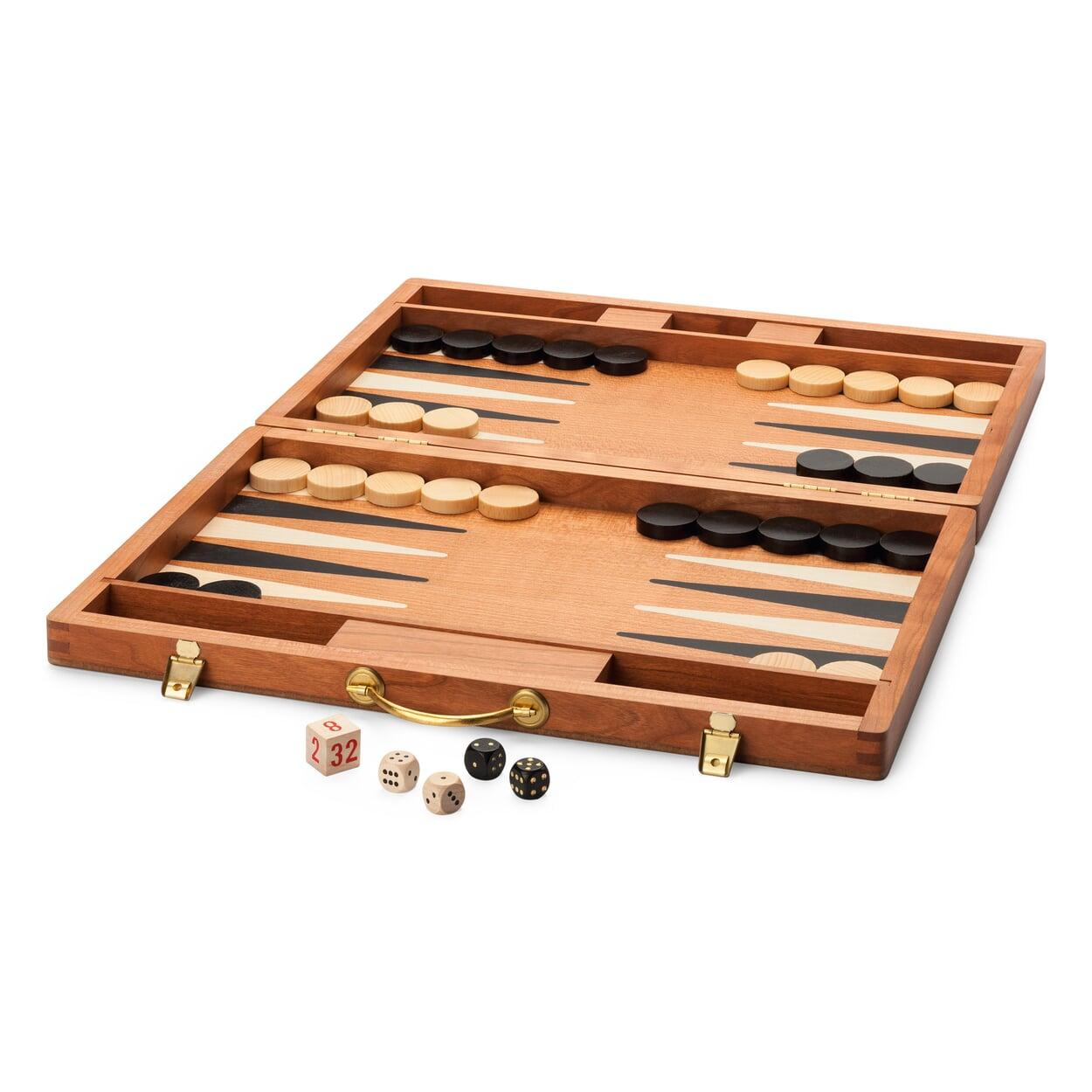 Backgammonspiel Kirschbaumholz