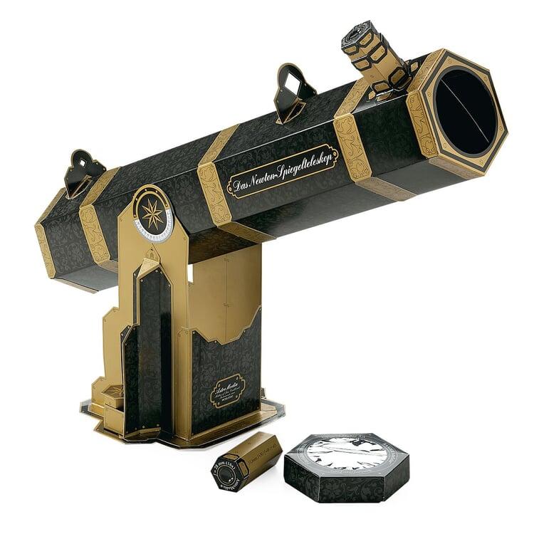 AstroMedia Bausatz Newton-Spiegelteleskop mit Sonnenfilter