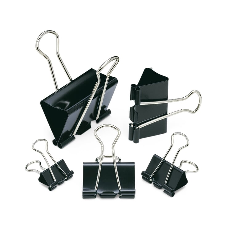 Binder Clips 41 mm, 12 Pieces