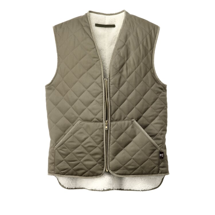 Wool-Lined Work Vest, Olive