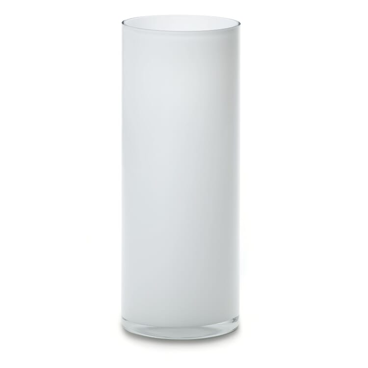 Opal White Cylindrical Floor Vase From Harzkristall