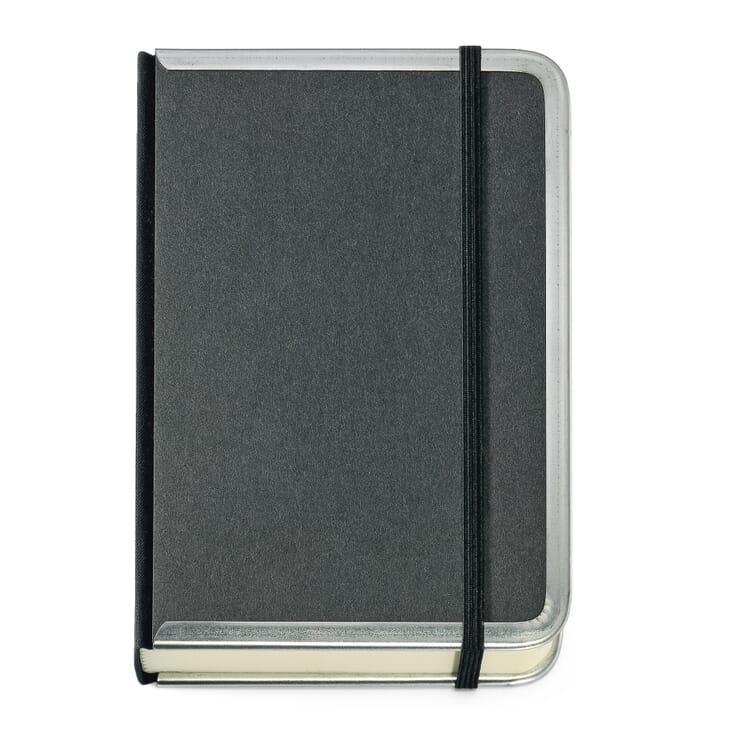 Notizbuch Metallkante B6