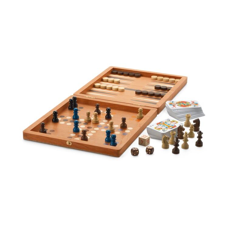 Reise-Spielesammlung Holz