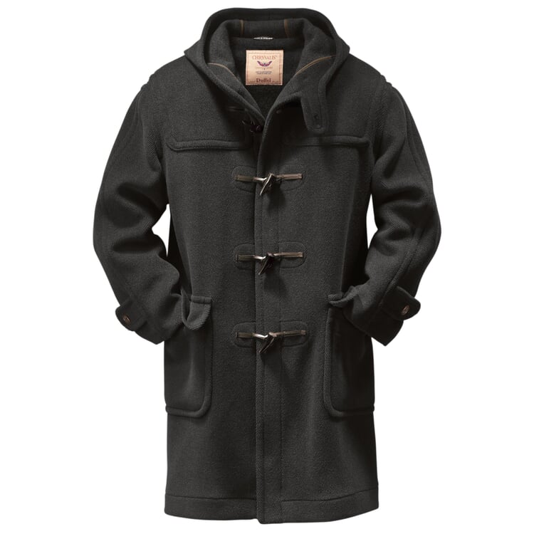 Men's Elysian Duffle Coat Anthracite