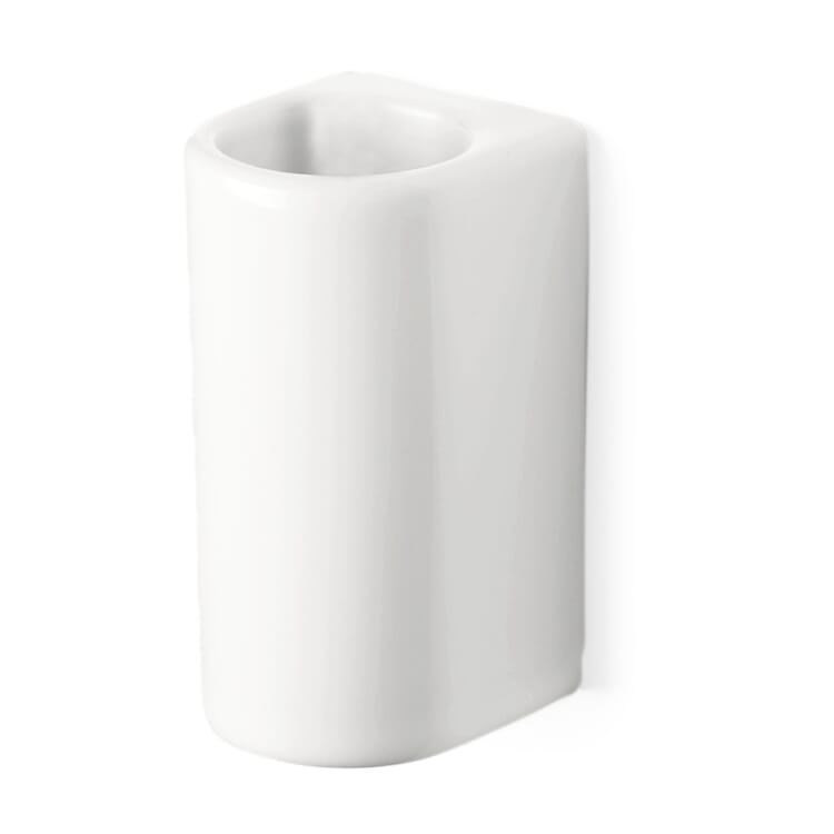 Ceramic Toilet Brush Holder with Wall Mounting