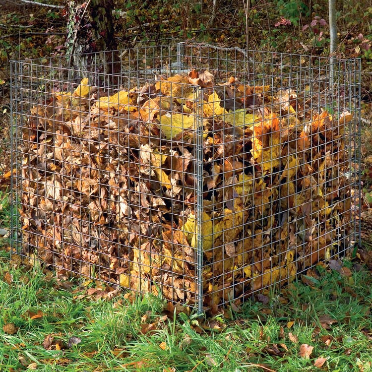 Galvanised Wire Mesh Leaf Composter