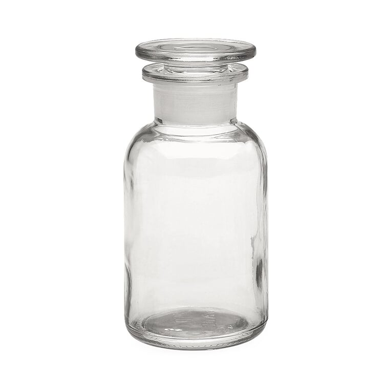Storage Bottle with Glass Stopper Capacity 250 ml Clear