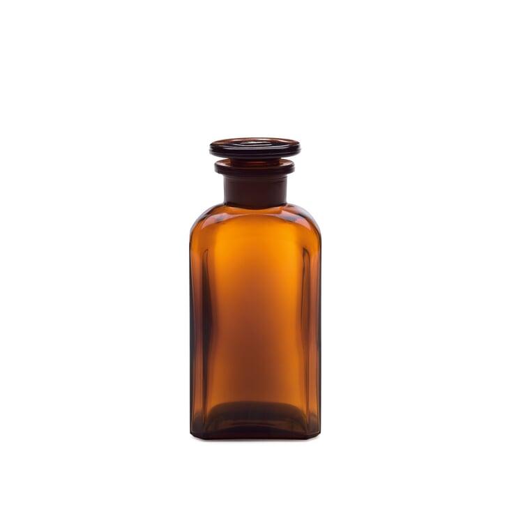 Square-Cut Bottle Glass Vol. 250 ml Brown