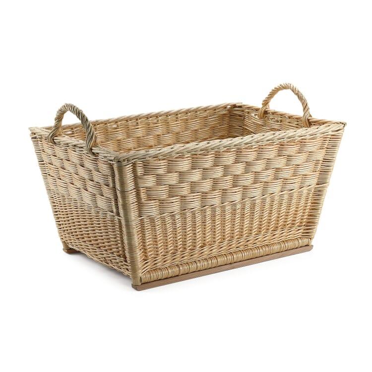 Honeycomb Weave Wicker Basket, Large