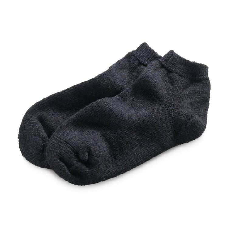 Haussocke Wolle und Seide Schwarz