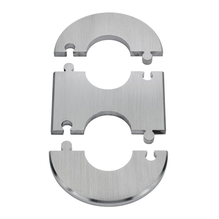 Connecting Sections For Radiator Rosettes Made Of Stainless Steel