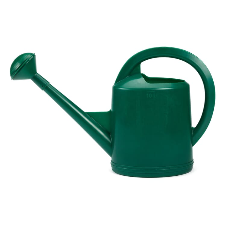 Swiss Plastic Watering Can with Rose, Volume 10 l