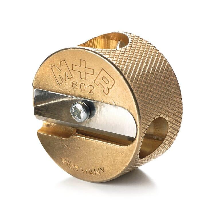 Round Brass Double Sharpener