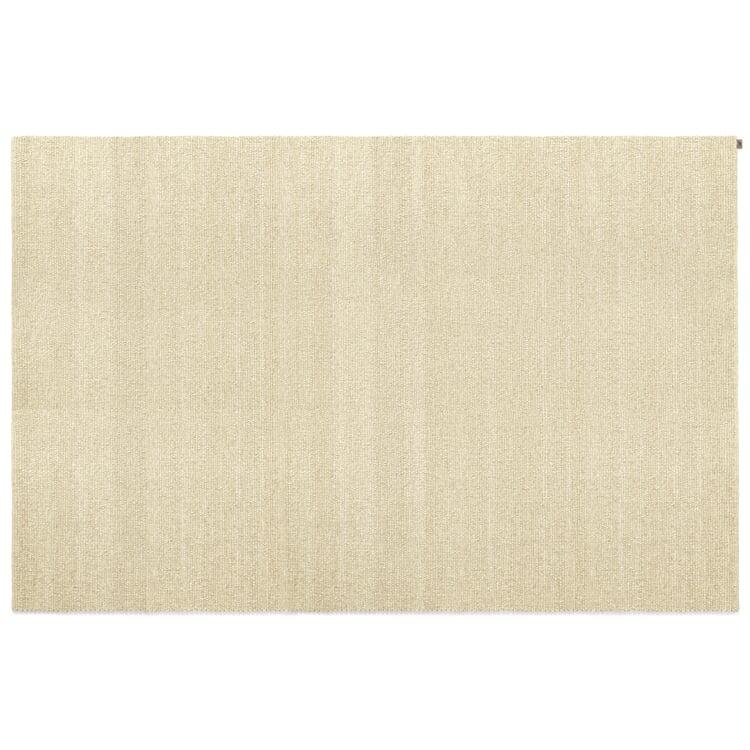 White Polled Heath Woven Carpet 70 x 140 cm