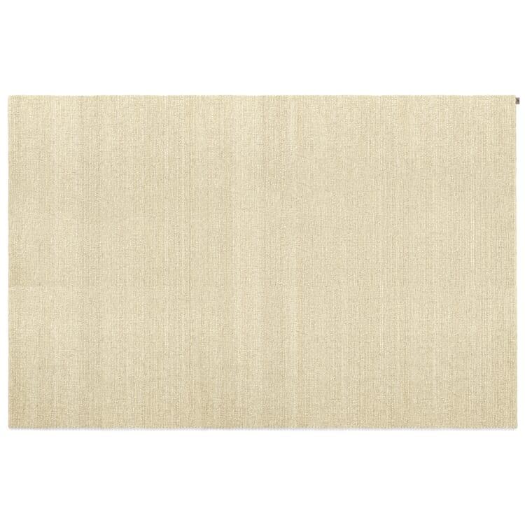 White Polled Heath Woven Carpet