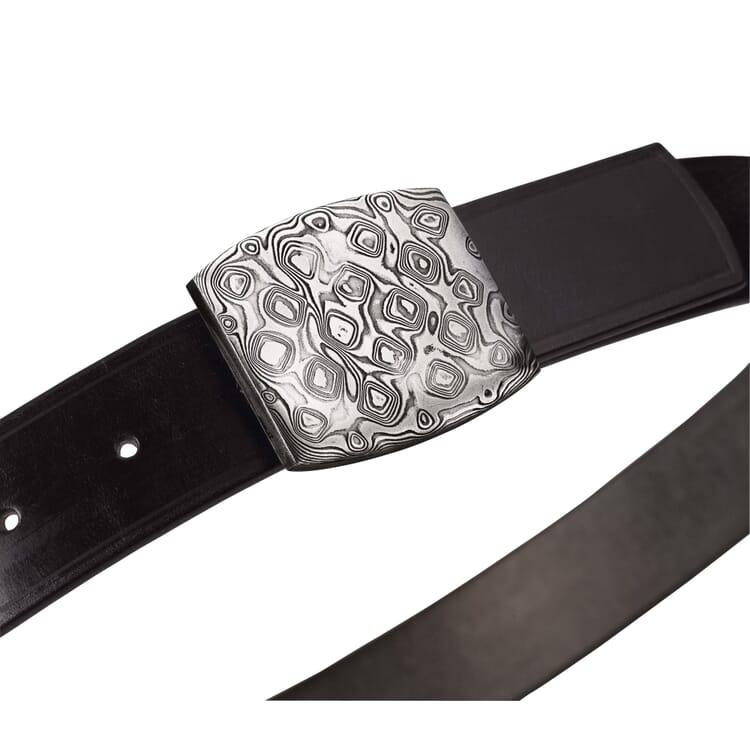 Belt Buckle Damascus Steel, Convex
