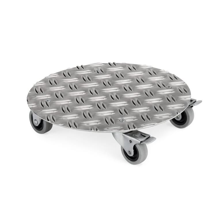 Aluminium Potted Plant Roller, Small