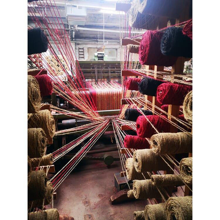 Red Herringbone Schär Coconut Fiber Carpet, Red