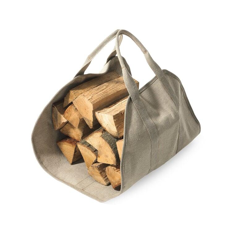 Brennholztasche Leinen