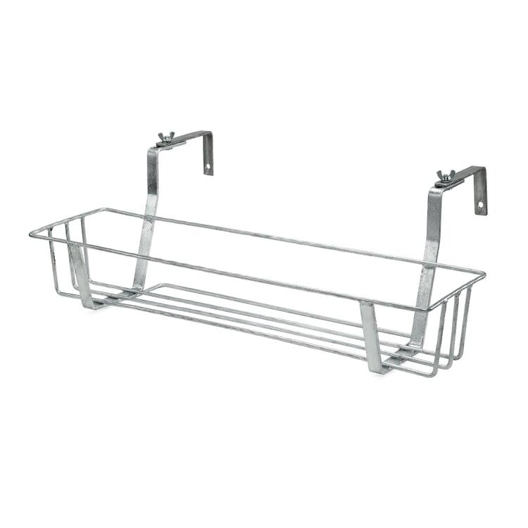 Galvanized Steel Balcony Pot / Box Holder Small
