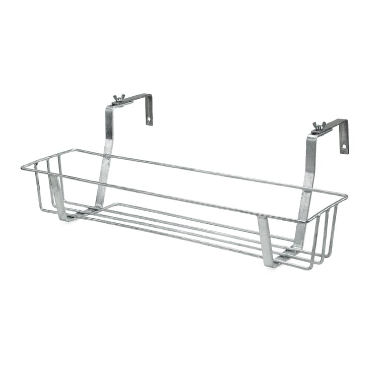 Galvanized Steel Balcony Pot / Box Holder, Small