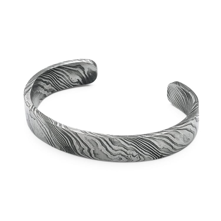 Raw Damascus Steel Bracelet, Narrow
