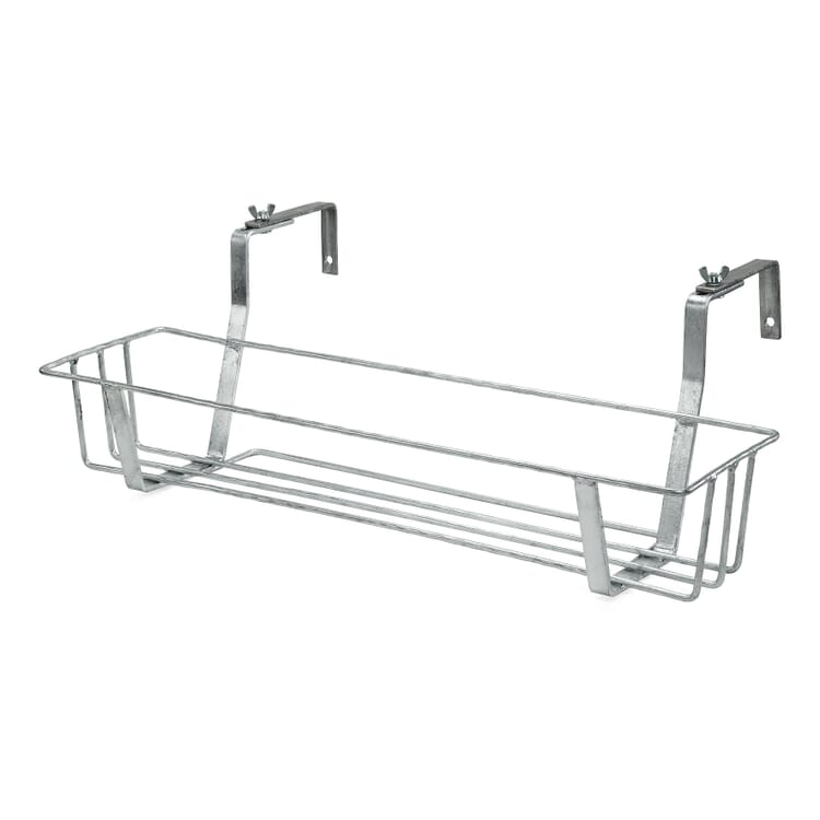 Galvanized Steel Balcony Pot / Box Holder, Large