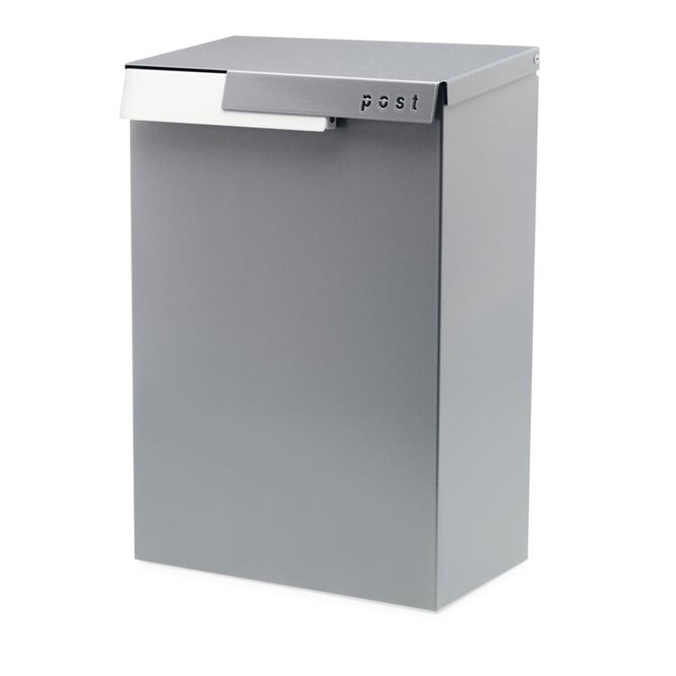 Letterbox Cato White Aluminium RAL 9006 / Traffic White RAL 9016