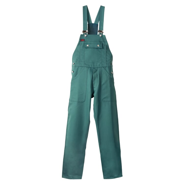 Cotton Twill Gardening Dungarees, Green