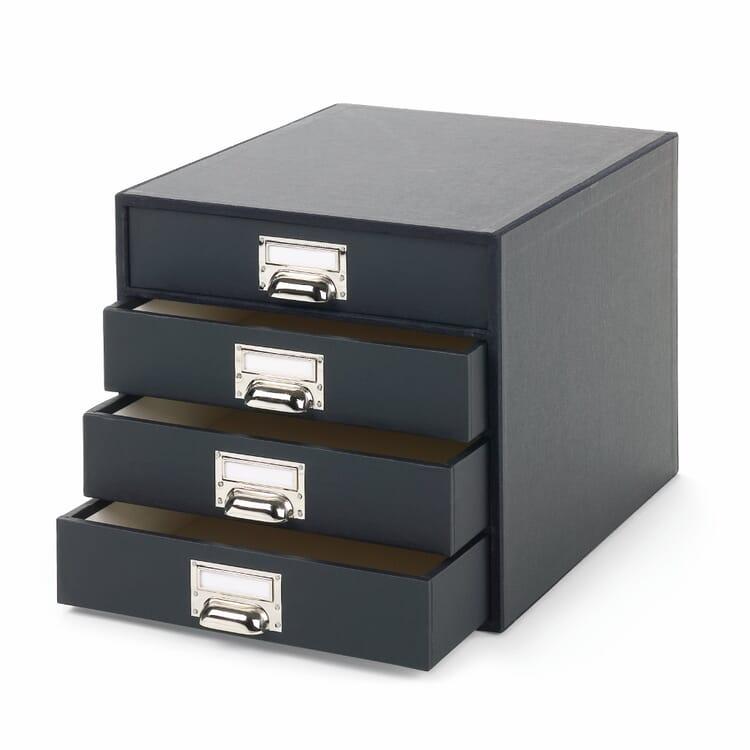 A4 Filing Cabinet, Black