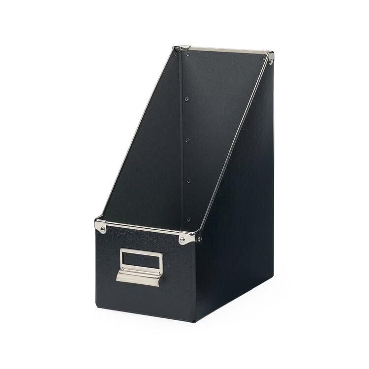 15 cm Metal Reinforced Magazine File Box Black