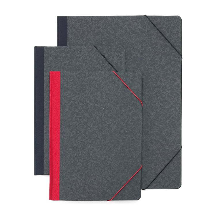 Cardboard Elasticated Folder A4 With a red back