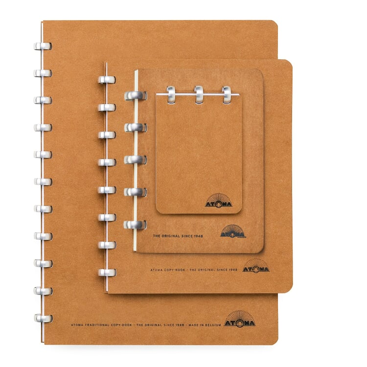 A5 Notebook with Blank Pages by Atoma Brown